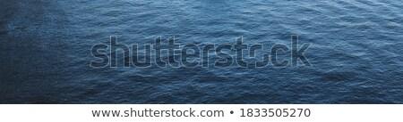 乾淨的水 波浪 旗幟 全景 藍天 商業照片 © photocreo