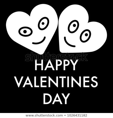 Absztrakt Valentin nap nap kártya papír szeretet Stock fotó © rioillustrator