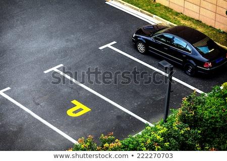 Stok fotoğraf: Araba · park · spot · sokak · imzalamak · trafik