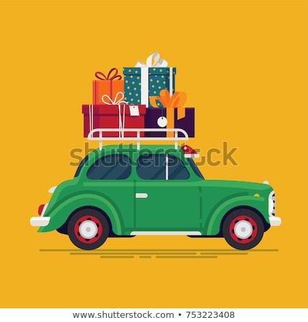 Oldtimer hoog kleurrijk auto verjaardag Stockfoto © BarbaraNeveu