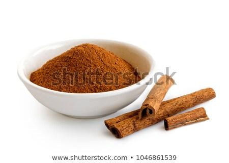 tál · föld · fahéj · étel · fűszer · közelkép - stock fotó © Digifoodstock