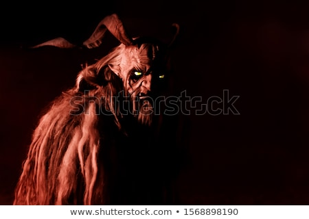 Scary creature with a horn Stock photo © bluering