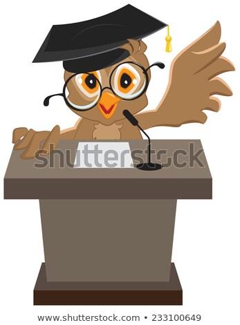 baykuş · konuşmacı · konuşma · hayvan - stok fotoğraf © orensila