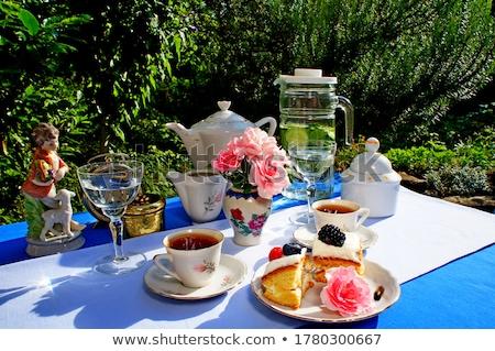 Siyah çay zaman kutu kesmek Hindistan Stok fotoğraf © Photofreak
