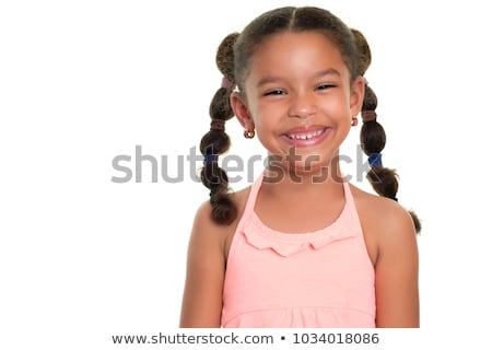 Mooie jonge meisje cute zwarte vrouwelijke Stockfoto © diego_cervo