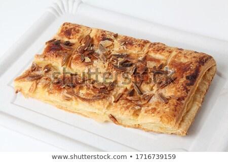 torta · finom · házi · készítésű · út · sütemény · szakács - stock fotó © jarp17