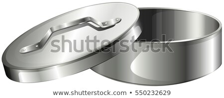 Aluminum bowl with lid Stock photo © bluering