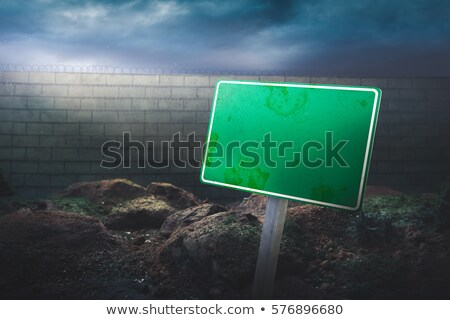 Stockfoto: United States Wall Blank Sign