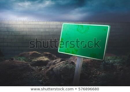 terrorisme · teken · hemel · wolk · donkere · geweld - stockfoto © lightsource