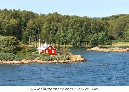 Piękna jesienią Finlandia wody słońce charakter Zdjęcia stock © Nobilior
