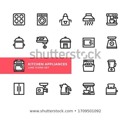 Kitchen dishwasher machine icon Stock photo © angelp