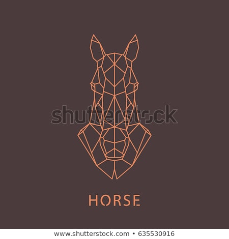 Horse vector geometric shapes Stock photo © Andrei_