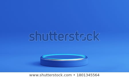 metal cylinder podium stock photo © oakozhan