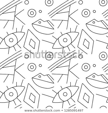 geométrico · mosaico · patrón · negro · triángulo · textura - foto stock © fresh_5265954