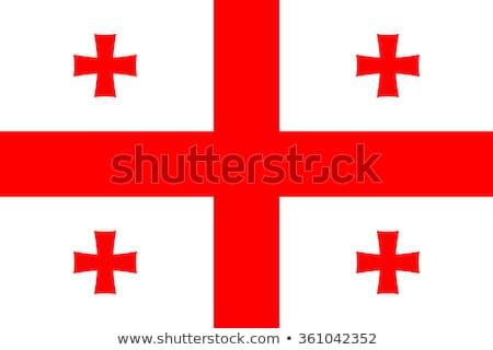 Ikon zászló Grúzia embléma izolált fehér Stock fotó © Oakozhan