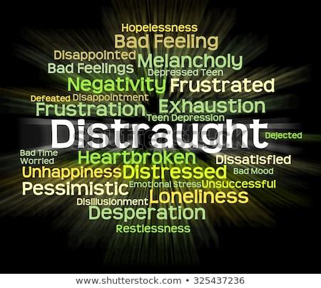 Palavra para cima angústia tristeza texto Foto stock © stuartmiles