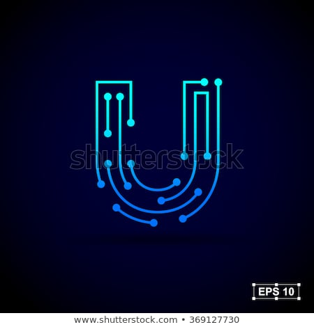Yaratıcı mektup ikon soyut logo tasarımı vektör Stok fotoğraf © chatchai5172
