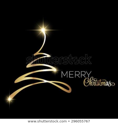 クリスマス ツリー クリスマスツリー 緑 背景 ストックフォト © user_10003441