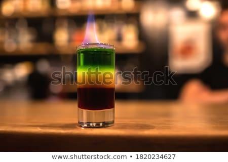 группа · стекла · пить · красный · золото · зеленый - Сток-фото © stokato