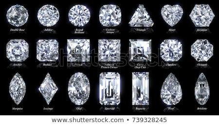 Diamante gemma forme diamanti taglio semplice Foto d'archivio © biv