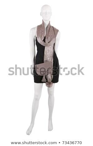 манекен · черное · платье · шарф · кошелька · изолированный - Сток-фото © gsermek