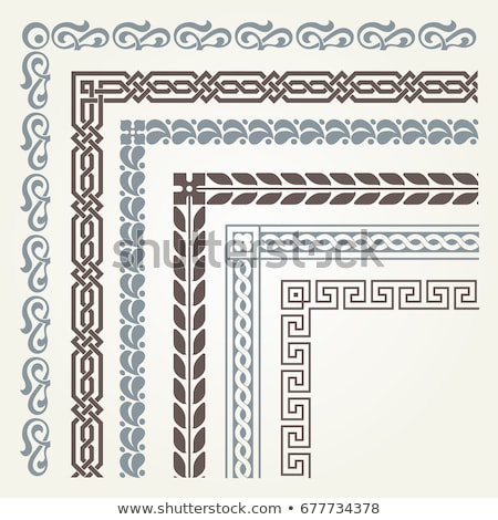 Vector set of decorative corner borders and frames stock photo © blue-pen