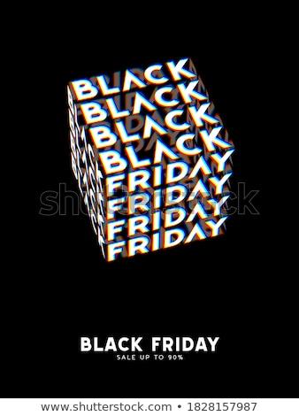 hirdetés · black · friday · eladó · illusztráció · absztrakt · terv - stock fotó © fresh_5265954