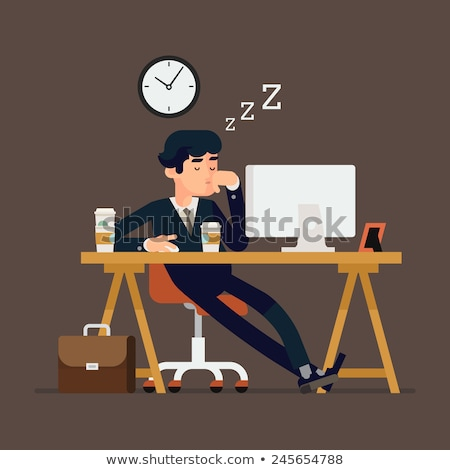 Fáradt üzletember alszik asztali számítógépek iroda Stock fotó © wavebreak_media