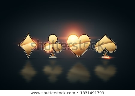 spades symbol on dark background with red light Stock photo © SArts