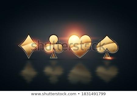 Pikk szimbólum sötét piros lámpa kaszinó siker Stock fotó © SArts