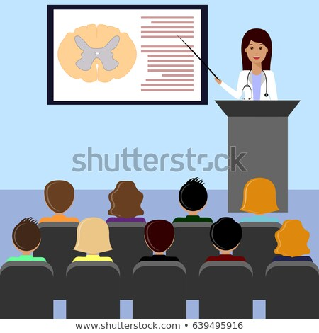 Woman doctor presenting healthcare and medical design concept  v Stock photo © NikoDzhi