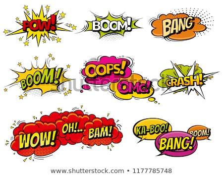 Stockfoto: Crash · tekstballon · komische · tekst · vector