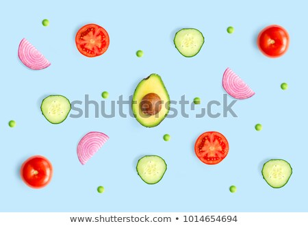 Onions cut seamless pattern. Vegetable slice background. Food te Stock photo © MaryValery