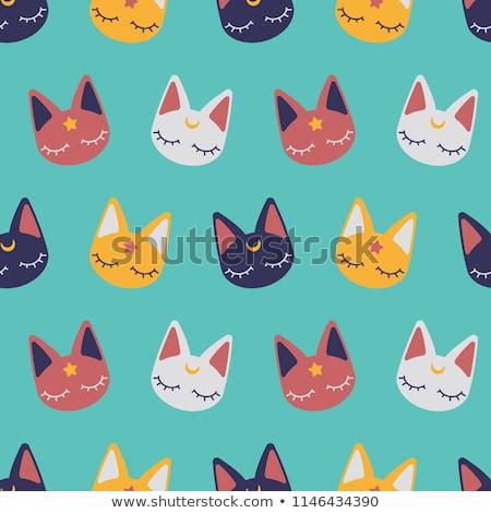 adormecido · gato · olhos · fundo · diversão · relaxar - foto stock © popaukropa