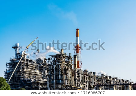 Factory smoke stack - Oil refinery, petrochemical or chemical pl Stock photo © vlad_star