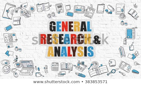 General Research and Analysis in Multicolor. Doodle Design. Stock photo © tashatuvango