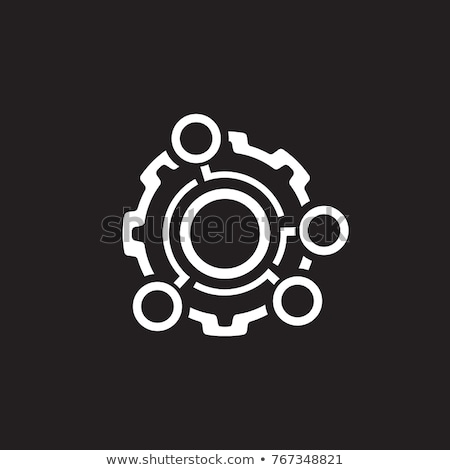 Technical Data Icon. Gear and Option Dots. Engineering Symbol. Stock photo © WaD
