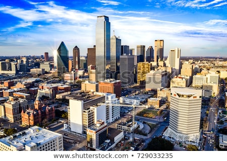 Panoramisch Dallas Texas skyline shot gebouwen Stockfoto © BrandonSeidel