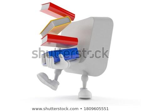 studying   message on the white keyboard key 3d stock photo © tashatuvango