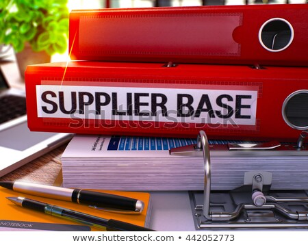 Supplier Base on Ring Binder. Blurred Image. Stock photo © tashatuvango