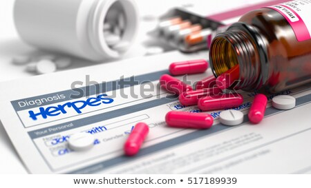 Stock photo: Herpes - Phrase in Anamnesis. 3D Illustration.