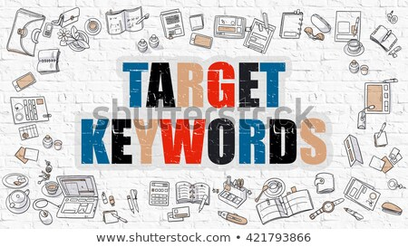 target keywords in multicolor doodle design stock photo © tashatuvango