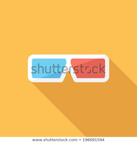 Set of paper 3d glasses in flat style, vector illustration. Stock photo © kup1984