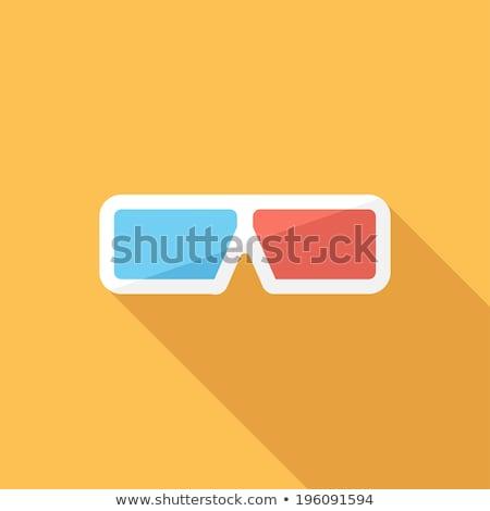 3d · szemüveg · vektor · mozi · ikon · zene · szem - stock fotó © kup1984