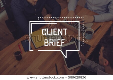 Client Brief Keypad. Stock photo © tashatuvango