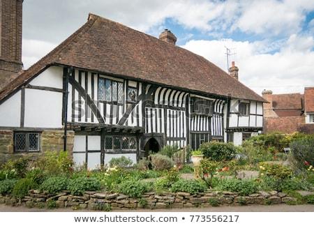 Middeleeuwse huisje sussex Engeland strijd tuin Stockfoto © smartin69