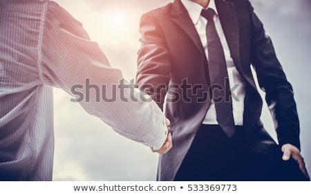 iş · anlaşma · işadamları · el · sıkışmak · çubuk · grafik · stok - stok fotoğraf © Andreus