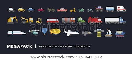 Transportation vehicles vector illustrations set. Stock photo © RAStudio