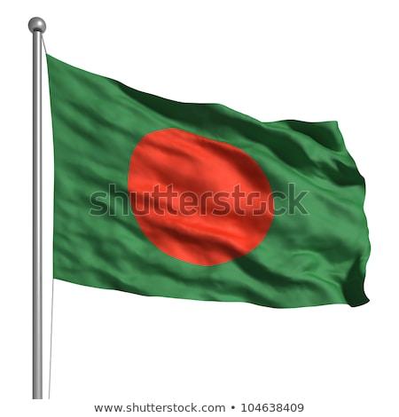 bandeira · Bangladesh · vetor · 3D · estilo · ícone - foto stock © amplion