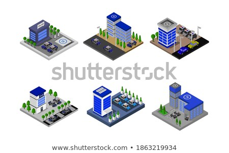 Public justice isometric 3D infographics Stock photo © studioworkstock